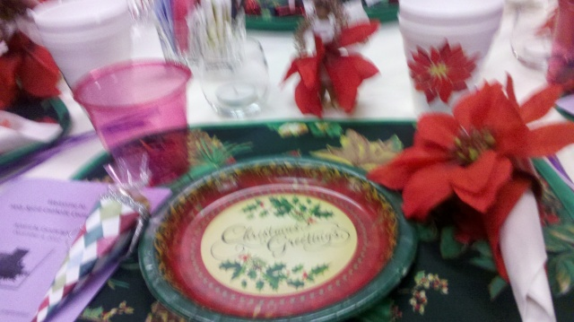 Advent Tea place setting