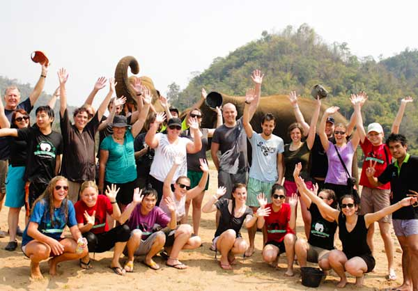 A Group of Volunteers – photo from http://commons.wikimedia.org/wiki/File:Volunteers_at_Elephant_Nature_Park.jpg