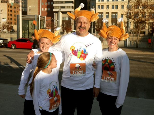 A family doing a Turkey Trot - Photo taken from http://www.flickr.com/photos/5chw4r7z/8208877730/sizes/l/in/photostream