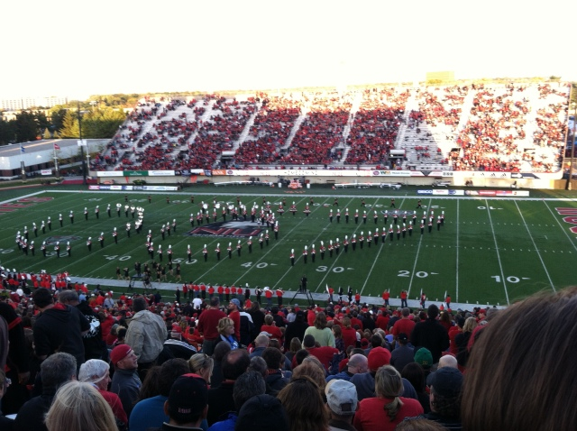 Marching jazz band at 2013 NIU Homecoming