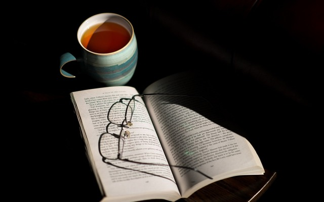 cup-of-tea and a book