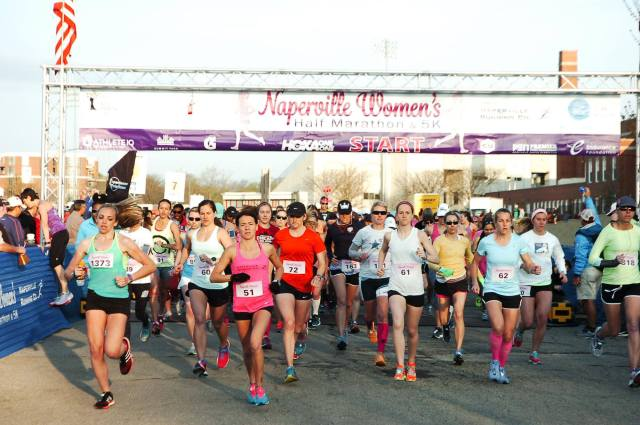 naperville women's half-marathon start