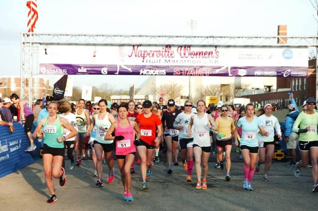 naperville women's half-marathon start