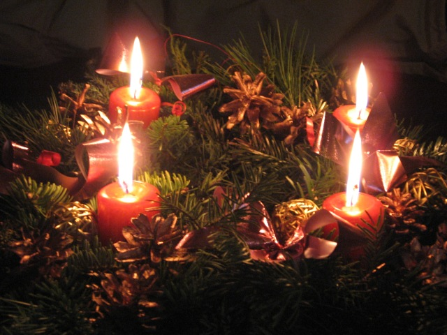 Advent wreath for blog on our best intentions