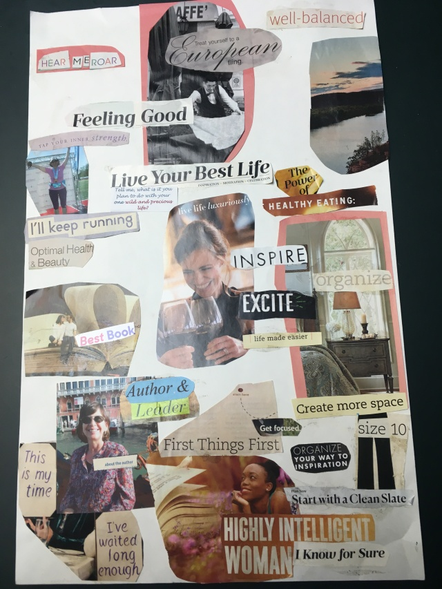 My most recent vision board