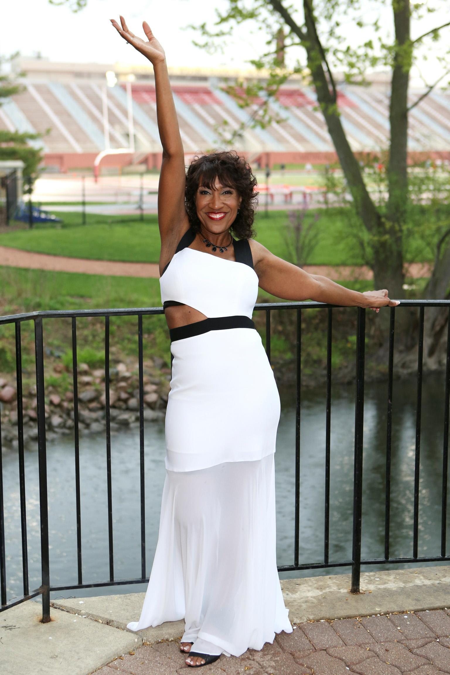 Rachell in white dress