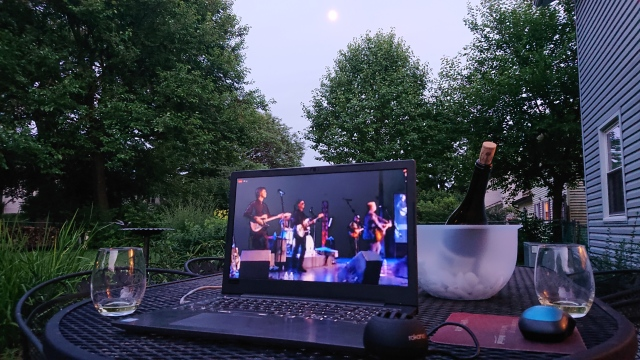 photo of our outdoor concert from Ken